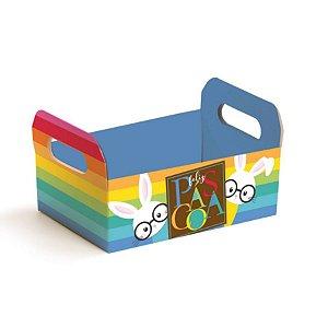 Caixote de Papel Cartão Multicolorido - 01 unidade - Cromus Páscoa - Rizzo