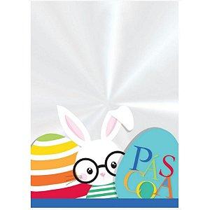 Saco Transparente Decorado 11x19,5cm Páscoa Play - 50 unidades - Cromus Páscoa - Rizzo