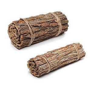 Lenha Decorativa em Madeira Rústica - Linha Rustic - Cromus Páscoa - Rizzo Confeitaria