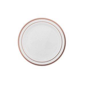 Prato Sobremesa Borda Rose - 6 un -  Silver Festas