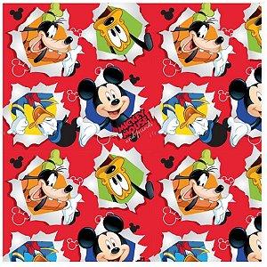 Folha para Ovos de Páscoa Mickey Friendship Vermelho 69x89cm - 05 unidades - Cromus Páscoa