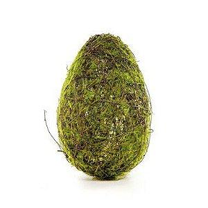 Ovo de Páscoa para Decoração Rústica Galhos e Musgo - G 23cm x 13cm - Cromus Páscoa - Rizzo