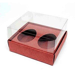 Caixa Ovo de Colher Duplo - Meio Ovo de 50g - 10cm x 10cm x 4cm - Rose Gold - 5unidades - Assk