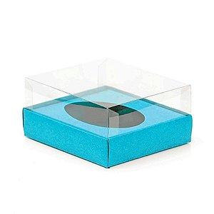 Caixa Ovo de Colher - Meio Ovo de 250g - 15cm x 13cm x 6,5cm - Azul - 5unidades - Assk