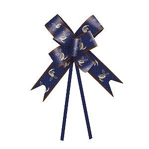 Laço Fácil Cacau Azul 10 unidades - Cromus Páscoa - Rizzo