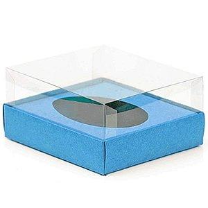 Caixa Ovo de Colher - Meio Ovo de 500g - 20,5cm x 17cm x 6,5cm - Azul - 5unidades - Assk