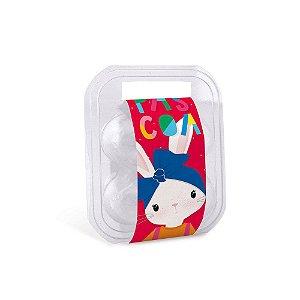 Maleta para 6 ovos com Cinta Brilho de Páscoa Vermelho 16,5x15,3x6,8cm - 10 unidades - Cromus Páscoa - Rizzo