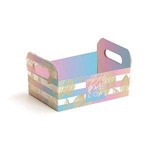 Caixote de Papel Cartão Ombre - 1 unidade - Cromus Páscoa - Rizzo