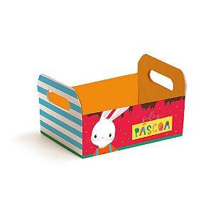 Caixote de Papel Cartão Brilho de Páscoa - 1 unidade - Cromus Páscoa - Rizzo