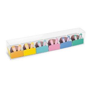 Caixa Clean 6 Doces com Forminha de Orelinha Páscoa Cores - 10 unidades - Cromus Páscoa - Rizzo