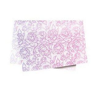 Papel de Seda - 49x69cm - Trama Rosa Lilás - 10 folhas - Rizzo