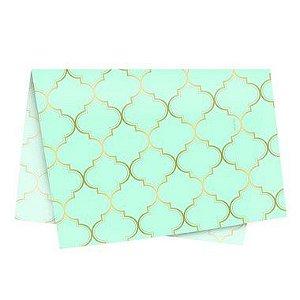 Papel de Seda - 49x69cm - Núria Azul - 10 folhas - Rizzo