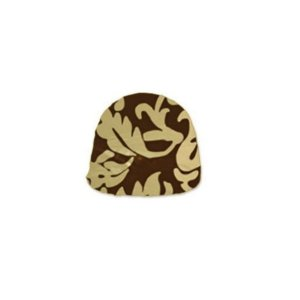 Papel Chumbo 10x9,7cm - Adamascado Marrom Ouro - 300 folhas - Cromus