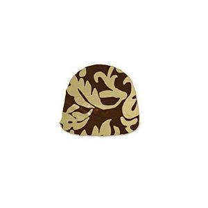 Papel Chumbo 8x7,8cm - Adamascado Marrom Ouro - 300 folhas - Cromus