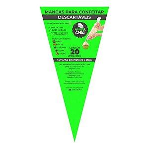 Saco para Confeitar 26 x 51cm  - 20 unidades - Prime Chef - Rizzo Confeitaria
