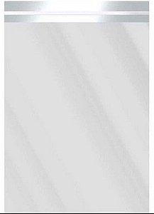 Saco Metalizado com Aba Adesiva Prata 25x35cm - 50 unidades - Cromus - Rizzo