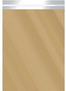 Saco Metalizado com Aba Adesiva Dourado 15x27cm - 50 unidades - Cromus - Rizzo