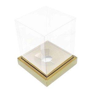 Caixa Ovo em Pé Moldura 250g Ouro - Crômus Páscoa - Rizzo Confeitaria