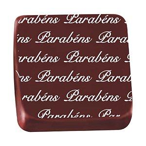 Transfer para Chocolate Parabens TRG 8057 01 Stalden Rizzo Confeitaria