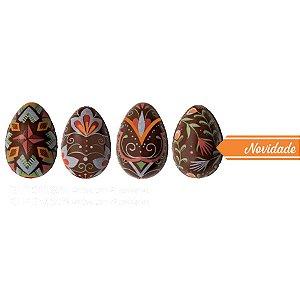 Blister Decorado com Transfer para Chocolate Ovinhos BLP0136 Stalden Rizzo Confeitaria