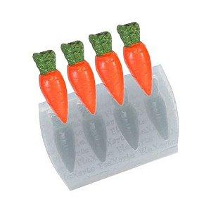 Molde de Silicone Quarteto de Cenouras Médias Ref. 23 Flexarte Rizzo Confeitaria