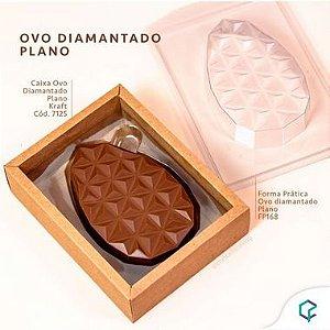 Caixa Ovo Diamantado Plano Kraft - 5 Unidades - Crystal -  Rizzo Confeitaria