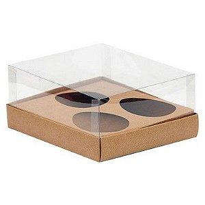 Caixa 3 Ovos de Colher 150G - 20,5cm x 17cm x 6,5cm - Kraft - 5 Unidades - Assk