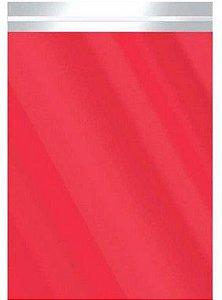 Saco Metalizado com Aba Adesiva Vermelho 15x27cm - 50 unidades - Cromus - Rizzo