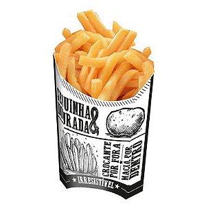Caixa para Batatas Fritas Preto e Branco - 50 unidades - Food Service Fest Color - Rizzo