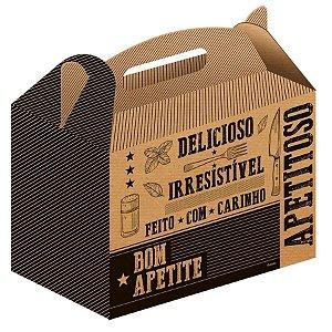 Caixa para Kit Lanches Kraft - 50 unidades - Food Service Fest Color - Rizzo