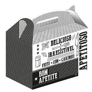 Caixa para Kit Lanches Preto e Branco - 50 unidades - Food Service Fest Color - Rizzo