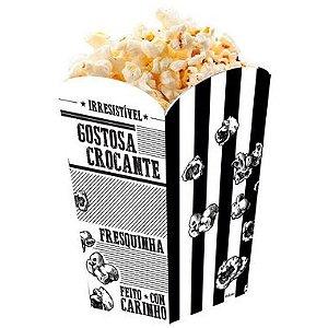 Caixa para Pipoca Preto e Branco - 50 unidades - Food Service Fest Color - Rizzo