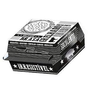Caixa para Hambúrguer Preto e Branco - 50 unidades - Food Service Fest Color - Rizzo