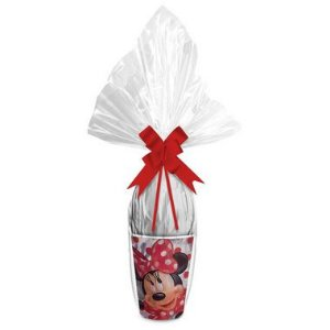 Kit Ovo no Copo Minnie Vermelha Cores (Copo + Saco Express + Papel Chumbo + Laço Fácil) - Páscoa Rizzo