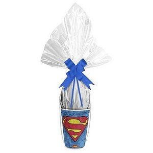 Kit Ovo no Copo Superman Cores (Copo + Saco Express + Papel Chumbo + Laço Fácil) - Páscoa Rizzo