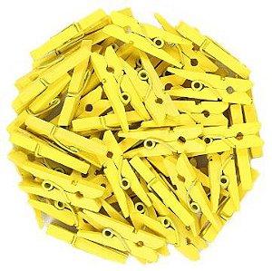 Mini Prendedor de Madeira Amarelo 2,5cm - 50 Unidades - Rizzo