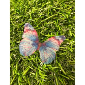 Enfeite decorativo Borboleta Tecido Azul Mesclado - 10uns - Rizzo Confeitaria