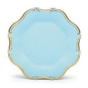 Sousplat Liso Provençal Azul para Decoração- 33cm - Cromus - Rizzo