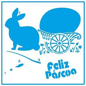 Stencil Coelho Feliz Páscoa STA-131 – Litoarte Rizzo Confeitaria