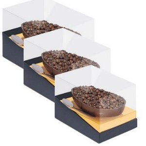 Caixa Specialla para Meio Ovo Ouro e Preto - 06 unidades - Cromus Páscoa - Rizzo