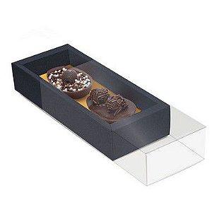 Caixa para Dois Meio Ovos 50g 18,5x7,5x3,5cm Specialla Ouro e Preto - 06 unidades - Cromus Páscoa - Rizzo Embalagens