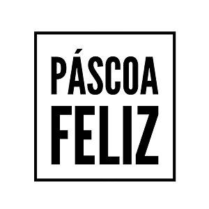 Carimbo Artesanal Páscoa Feliz - G - 6,0x6,5cm - Cod.RI-077 - Rizzo Confeitaria