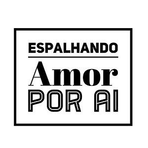 Carimbo Artesanal Espalhando Amor - M - 5x5cm - Cod.RI-074 - Rizzo Confeitaria