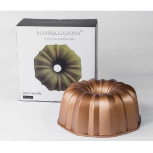 Forma em Alumínio Fundido Swirl Cake Pan Marissa Rizzo Confeitaria