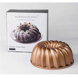 Forma em Alumínio Fundido Classic Cake Pan Marissa Rizzo Confeitaria