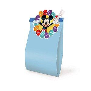 Saquinho com Fechamento Azul 14x8x4cm Páscoa Mickey Disney - 10 unidades - Cromus Páscoa Disney