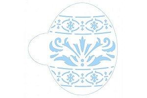 Stencil Ovo Decorado SC2-036 Litoarte Rizzo Confeitaria
