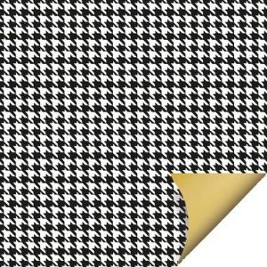 Folha para Ovos de Páscoa Double Face Tweed Preto 69x89cm - 05 unidades - Cromus Páscoa - Rizzo