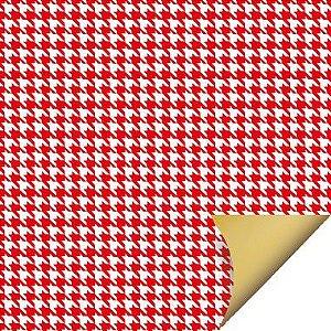 Folha para Ovos de Páscoa Double Face Tweed Vermelho 69x89cm - 05 unidades - Cromus Páscoa
