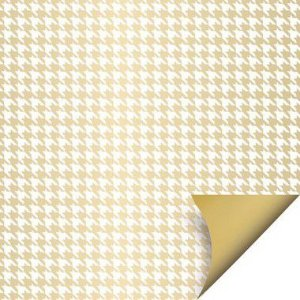 Folha para Ovos de Páscoa Double Face Tweed Ouro 69x89cm - 05 unidades - Cromus Páscoa